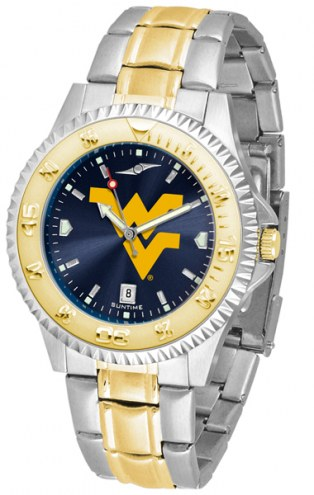 West Virginia Mountaineers Competitor Two-Tone AnoChrome Men's Watch