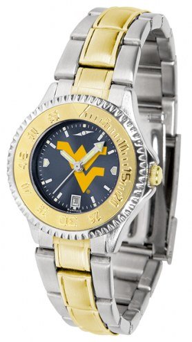West Virginia Mountaineers Competitor Two-Tone AnoChrome Women's Watch