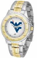 West Virginia Mountaineers Competitor Two-Tone Men's Watch