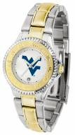 West Virginia Mountaineers Competitor Two-Tone Women's Watch