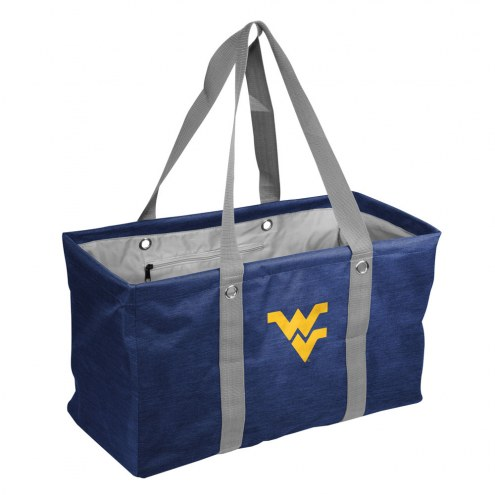 West Virginia Mountaineers Crosshatch Picnic Caddy
