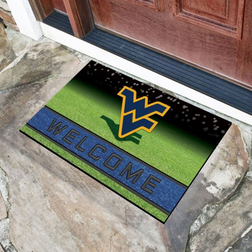 West Virginia Mountaineers Crumb Rubber Door Mat