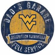 West Virginia Mountaineers Dad's Garage Sign