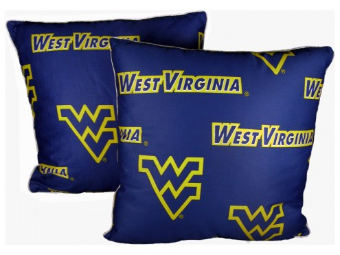 West Virginia Mountaineers Decorative Pillow Set