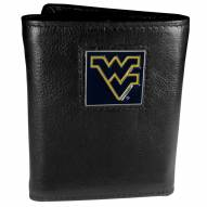 West Virginia Mountaineers Deluxe Leather Tri-fold Wallet in Gift Box
