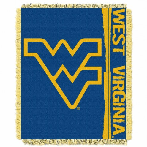 West Virginia Mountaineers Double Play Woven Throw Blanket
