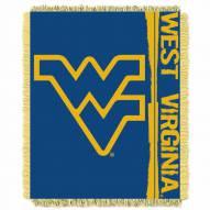 West Virginia Mountaineers Double Play Woven Throw Blanket