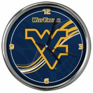 West Virginia Mountaineers Dynamic Chrome Clock