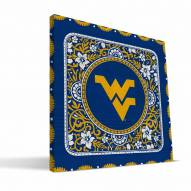 West Virginia Mountaineers Eclectic Canvas Print