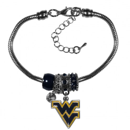 West Virginia Mountaineers Euro Bead Bracelet