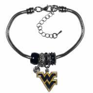 West Virginia Mountaineers Euro Bead Bracelet