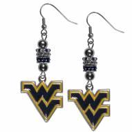 West Virginia Mountaineers Euro Bead Earrings