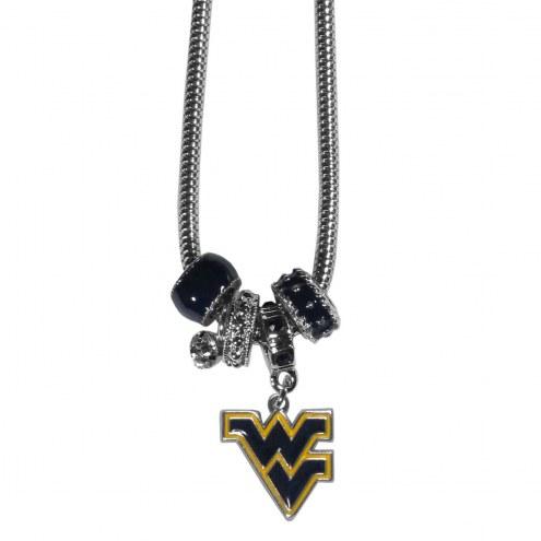 West Virginia Mountaineers Euro Bead Necklace