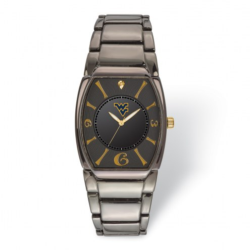West Virginia Mountaineers Executive Black Plated Watch