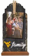 West Virginia Mountaineers Family Tabletop Clothespin Picture Holder