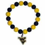 West Virginia Mountaineers Fan Bead Bracelet