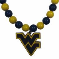 West Virginia Mountaineers Fan Bead Necklace