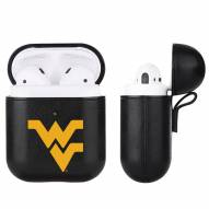 West Virginia Mountaineers Fan Brander Apple Air Pods Leather Case