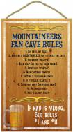West Virginia Mountaineers Fan Cave Rules Wood Sign
