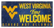 West Virginia Mountaineers Fans Welcome Sign