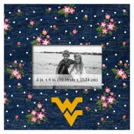 "West Virginia Mountaineers Floral 10"" x 10"" Picture Frame"