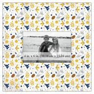 "West Virginia Mountaineers Floral Pattern 10"" x 10"" Picture Frame"