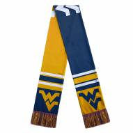 West Virginia Mountaineers Colorblock Big Logo Scarf