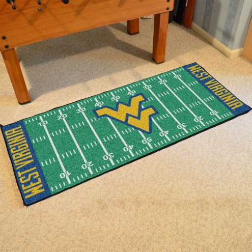 West Virginia Mountaineers Football Field Runner Rug