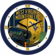 West Virginia Mountaineers Football Helmet Wall Clock