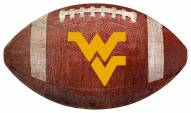 West Virginia Mountaineers Football Shaped Sign