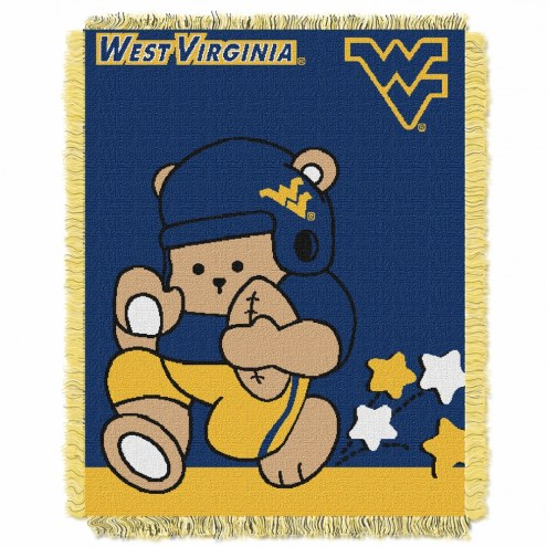 West Virginia Mountaineers Fullback Baby Blanket