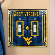 West Virginia Mountaineers Glass Double Switch Plate Cover
