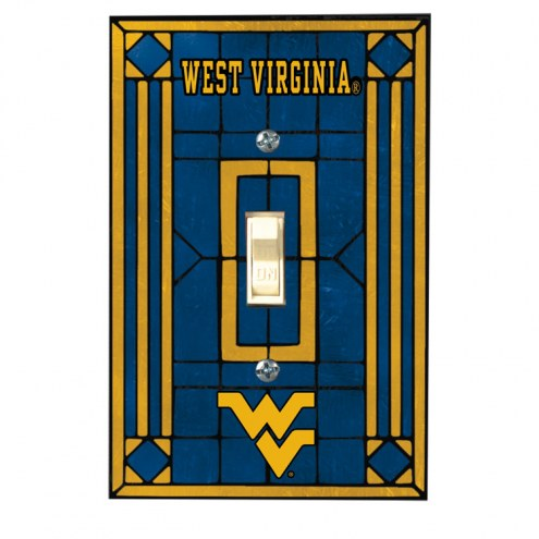 West Virginia Mountaineers Glass Single Light Switch Plate Cover