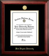 West Virginia Mountaineers Gold Embossed Diploma Frame