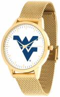 West Virginia Mountaineers Gold Mesh Statement Watch