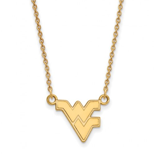 West Virginia Mountaineers Sterling Silver Gold Plated Small Pendant Necklace