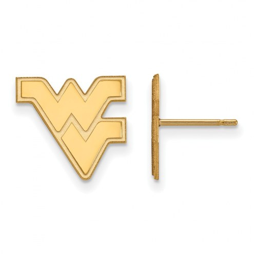 West Virginia Mountaineers Sterling Silver Gold Plated Small Post Earrings