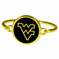 West Virginia Mountaineers Gold Tone Bangle Bracelet