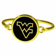 West Virginia Mountaineers Gold Tone Bangle Bracelet