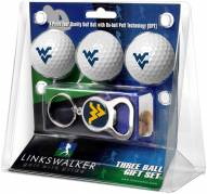 West Virginia Mountaineers Golf Ball Gift Pack with Key Chain