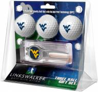 West Virginia Mountaineers Golf Ball Gift Pack with Kool Tool