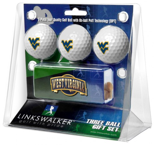 West Virginia Mountaineers Golf Ball Gift Pack with Slider Clip