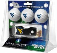 West Virginia Mountaineers Golf Ball Gift Pack with Spring Action Divot Tool