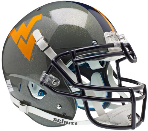West Virginia Mountaineers Grey Schutt XP Authentic Full Size Football Helmet