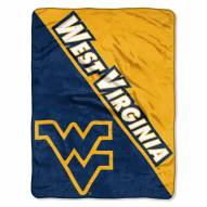 West Virginia Mountaineers Halftone Raschel Blanket