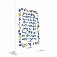 West Virginia Mountaineers Hand-Painted Song Canvas Print