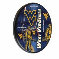 West Virginia Mountaineers Digitally Printed Wood Clock