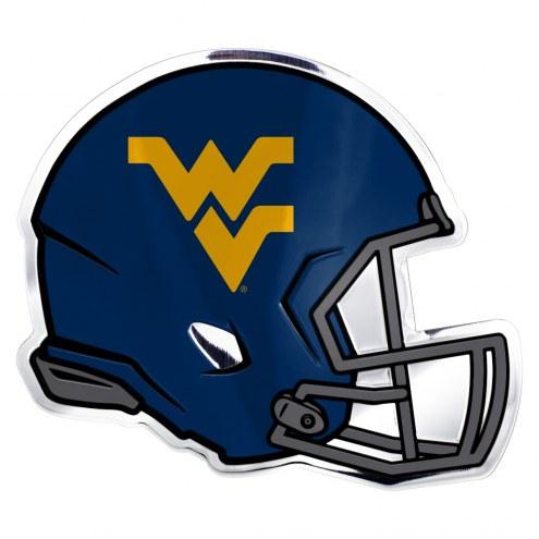 West Virginia Mountaineers Helmet Car Emblem