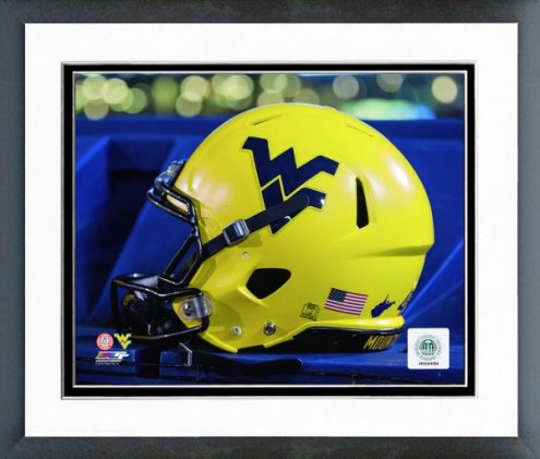 West Virginia Mountaineers Helmet Framed Photo