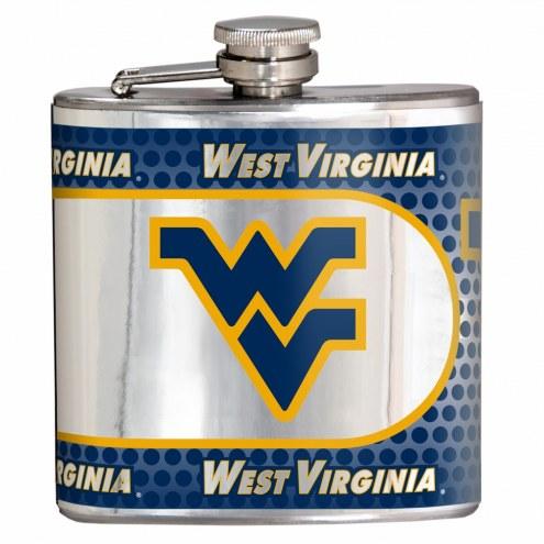 West Virginia Mountaineers Hi-Def Stainless Steel Flask